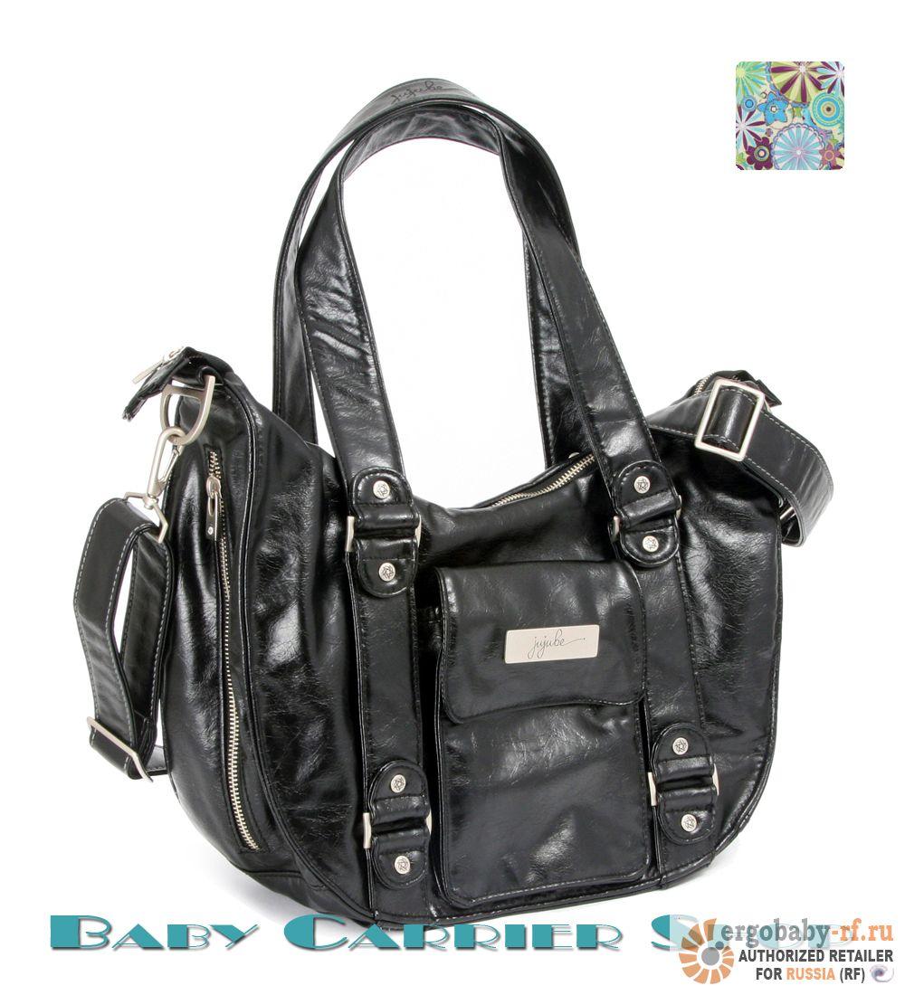 Сумка для мамы на коляску JU-JU-BE Earth Leather «Be Have Black Dizzy Daisies» Legacy Collection JuJuBe [ЖуЖуБи Би Хэв Земная кожа]