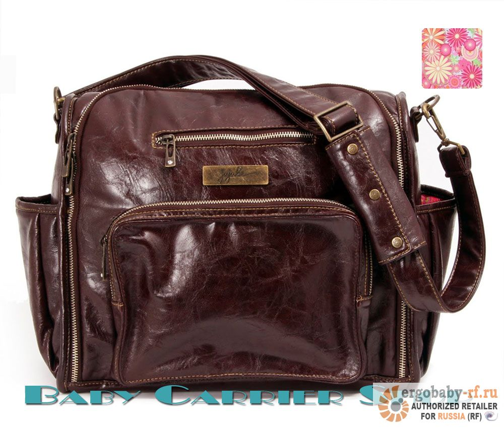 Сумка для мамы на коляску JU-JU-BE Earth Leather «Be Fabulous Brown Zany Zinnias» Legacy Collection JuJuBe [ЖуЖуБи Би Фабулос Земная кожа]