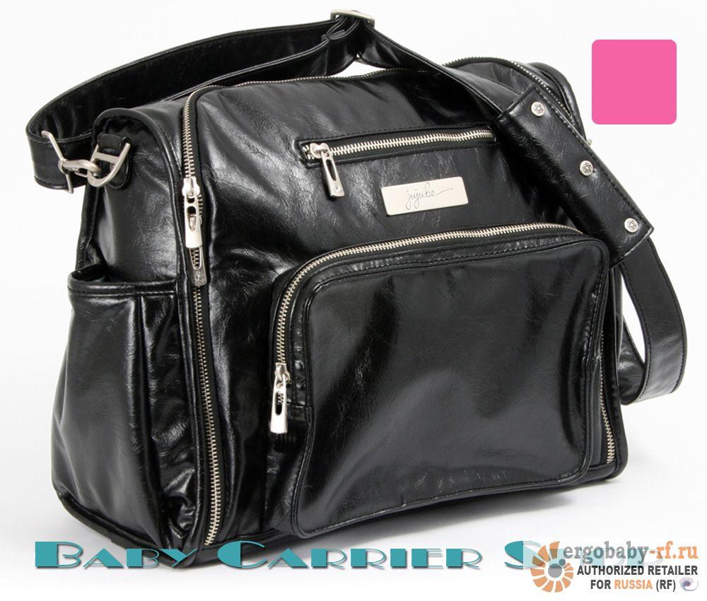 Сумка для мамы на коляску JU-JU-BE Earth Leather «Be Fabulous Black Pink» Legacy Collection JuJuBe [ЖуЖуБи Би Фабулос Земная кожа]