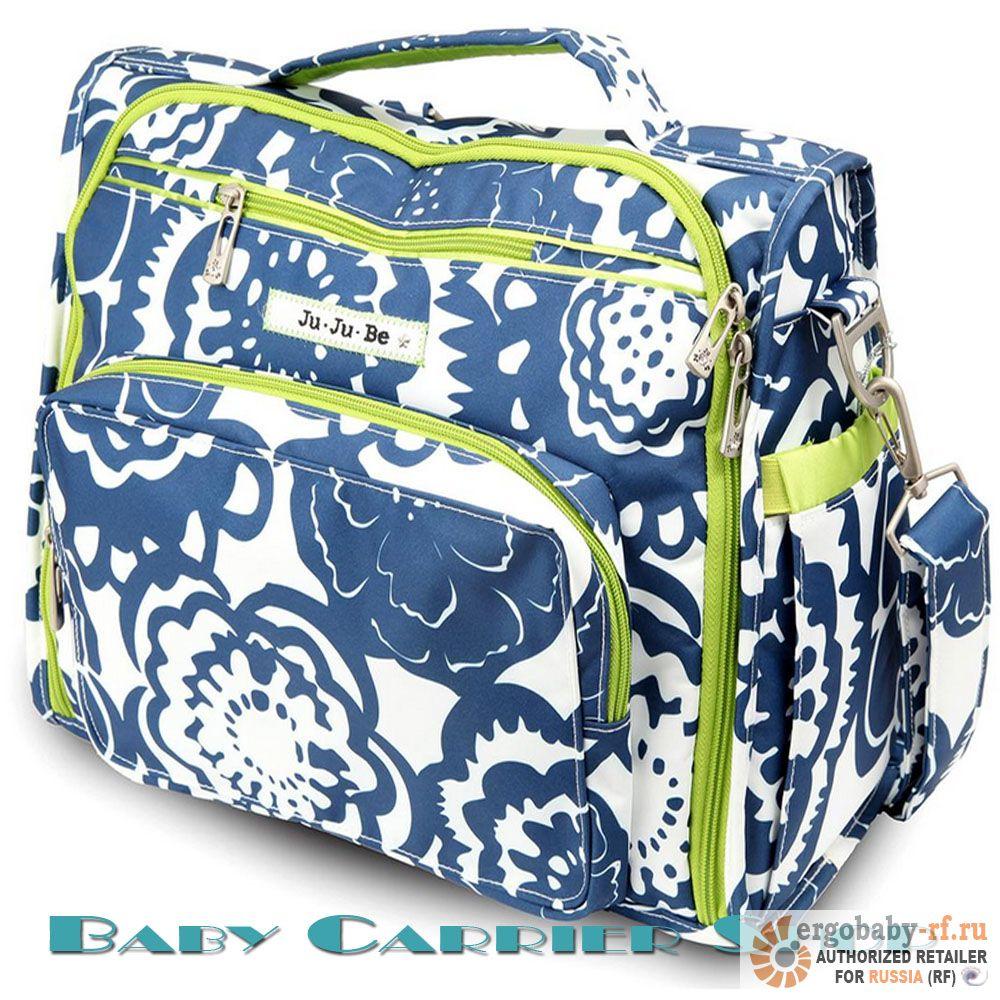 Сумка-рюкзак для мамы на коляску JU-JU-BE «BFF Cobalt Blossoms» Classic Collection JuJuBe [ЖуЖуБи БФФ]