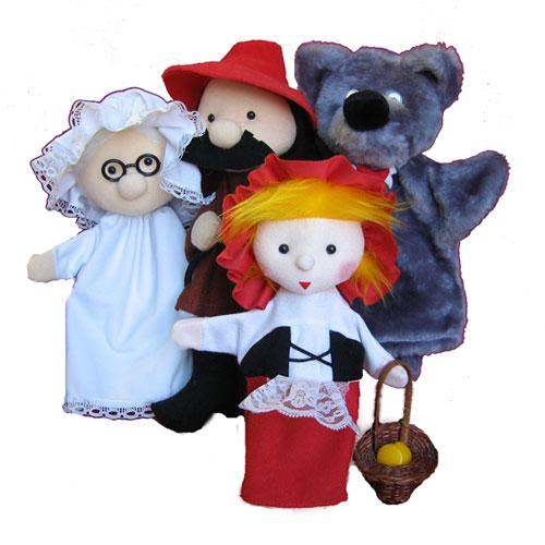 Вернуться к разделу.  Наборы кукол для театра.  Красная шапочка,Волк,Охотник,Бабушка.