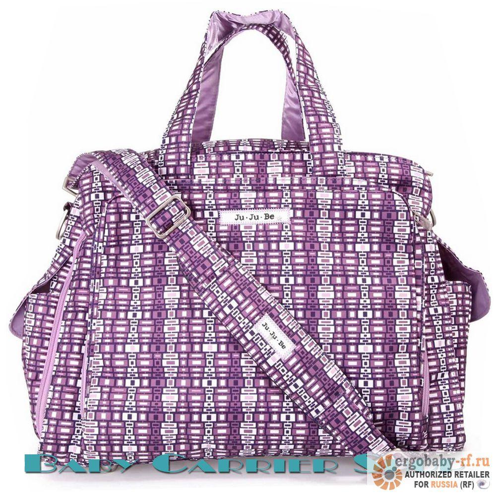 Дорожная сумка для мамы на коляску (или для двойни) JU-JU-BE «Be Prepared JuJuBerry Squares» Premium Collection JuJuBe [ЖуЖуБи Би Припэред]