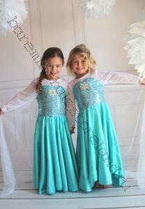 Платье Эльзы из Холодное сердце на девочку роста 120, 130,140 см