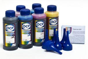 Чернила OCP для принтера Epson Stylus Photo 1410, T50, TX650, P50, PX660, R270, R290 (BK 140, C 140 - светостойкий, M 140, Y 140, CL 141, ML 141), картриджи T0801-T0806, T0821-T0826 комплект 100 гр. x 6