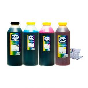 Чернила OCP для принтера HP B010b, B110, 3070A, 5510, 7000 (BK35, C143, M143, Y143) Safe Set, комплект 1000 гр. x 4