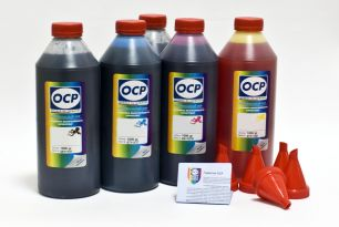 Чернила OCP для принтера и МФУ Canon MG5340, iP4940, iP3600 (BKP44, BK124, C154, M144, Y144), картриджи PGI-425, CLI-426, PGI-520, CLI-521 комплект 1000 гр. x 5