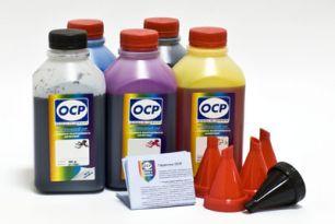 Чернила OCP для принтера и МФУ Canon MG5340, iP4940, iP3600 (BK35, BK124, C154, M144, Y144) Safe Set, комплект 500 гр. x 5