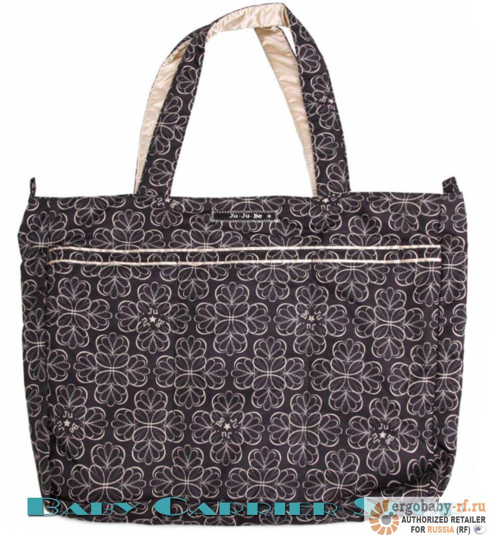 Пляжная сумка для мамы на коляску JU-JU-BE «Mighty Be Licorice Twirl» Beyond Collection JuJuBe [ЖуЖуБи Майти Би]
