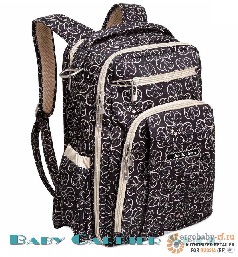 Рюкзак для мамы на коляску JU-JU-BE «Be Right Back Licorice Twirl» Classic Collection JuJuBe [ЖуЖуБи Би Райт Бэк]