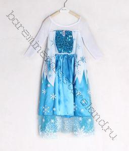 Платье принцессы Эльзы Холодное сердце рр 130 на 120 см