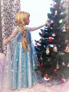 Платье новогоднее Эльза рост 120-125 см