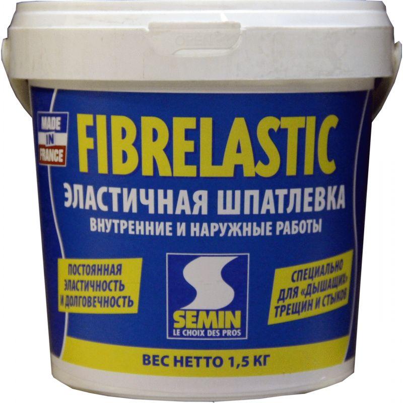 "Специальная эластичная шпаклевка ""SEMIN"" ( FIBRELASTIC.) 1,5 кг."