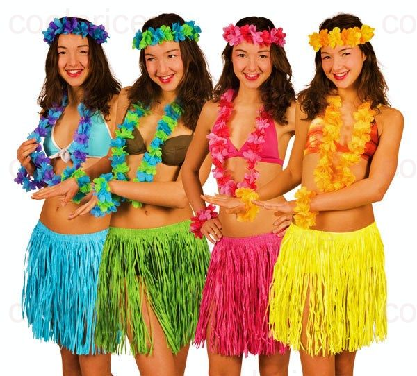 Как сделать гавайский костюм своими